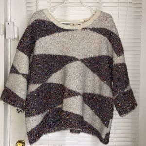Fabulous Anthropologie sweater! Cozy fun metallic!